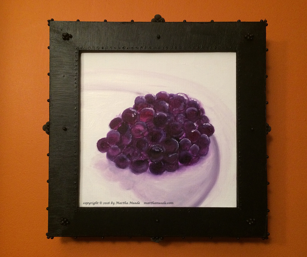 A Blackberry<br/>8 x 8 x 0.75<br/>oil on canvas