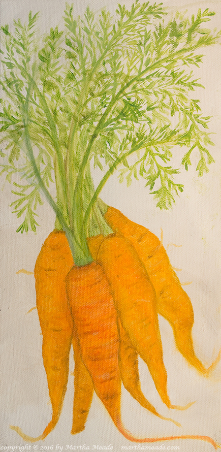 Richie's Carrots<br/>12 x 6 x 0.75<br/>oil on canvas